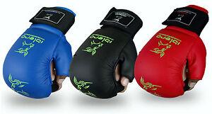 EVO PU Karate Sparring Mitt GEL Gloves MMA Judo Taekwondo Martial Arts Jiu-Jitsu