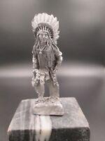 indian chief sitting bull ratrod  hotrod car hood ornament