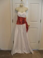 Nwt $178 Vintage white/red sequin Prom/Bridesmaid/Stage Formal Ball Gown Size11