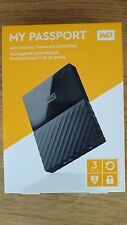 New WD My Passport 3TB External USB 3.0 Portable Hard Drive- Black ExpeditedShip