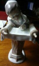 "Vintage Retired Llardo 6004 Bar Mitzva Boy Porcelain Figurine 8.25"" Scarce Piece"