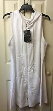 Wearabout Ladies Swim Coverup Dress Hooded White Size Large Lounge Dress