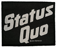 """Status Quo """" Logo Aufnäher Patch Gewebt & Lizenziert !!  SP3049"""