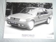 Peugeot 309 GTI Press Photo 1990 texto alemán