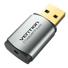 1 X Vention CDNH0 USB 2.0 Sound Audio Card 2.1 Channel 3.5mm Headphone Adapter