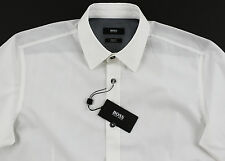 Men's HUGO BOSS White Shirt XL Extra Large NWT NEW $155+ Slim Fit Stretch RONNY