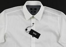 Men's HUGO BOSS White Shirt XXL 2XL NWT NEW $155+ Slim Fit Stretch RONNY