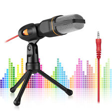 Professional Condenser Sound Podcast Studio Microphone For Pc Laptop Msn Skype