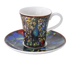 Tiffany Espressotasse Pfau 7 cm 0,1 l Louis Comfort  2 tlg. Artis Orbis Goebel
