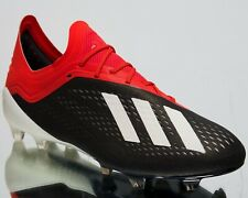 Adidas X 18.1 Fg New Mens Soccer Shoes Core Black Footwear White Red 195g Bb9345