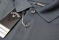NWT $50 Callaway Polo Short Sleeve Shirt Asphalt Gray Mens S M Opti Series