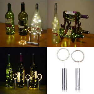 10 20 LED String Lights Cork Shaped Night Light For Wine Bottle Starry Xmas SA