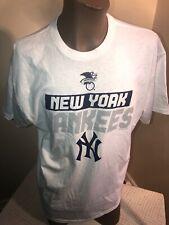 NY Yankees New NWOT SGA XL SOUVENIR T-Shirt Baseball Tourist Vintage White