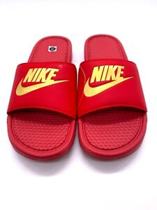 NIKE Men Benassi Slides Red 343880-602  Size 12