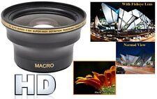 Hi Def 0.30x Panoramic Fisheye Lens For Canon Vixia HF R60 R62 R70 R72 R600 R700