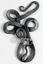 Hand-Forged Viking Snake Pendant --- Norse/Celtic/Knot/Medieval/Serpent/Jewelry