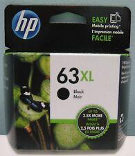 HP 63XL HIGH YIELD GENUINE BLACK INK CARTRIDGE, NEW IN BOX
