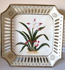 "Decorative Plate~Tropical Flower~Heavy~Drop Dead Gorgeous~8.5"" Square~#4 of 4"