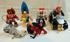 Lot of 6 Mattel Fisher Price Four Rescue Heroes & Two Attachments
