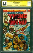 Marvel Feature 12 CGC SS 8.5 Stan Lee Iron Man vs Thanos 11/1973 Avengers Movie