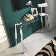 Consolle in vetro Kirk per ingresso soggiorno ufficio o studio gambe metallo