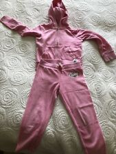 Juicy Couture Girls pink Tracksuit Size S