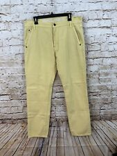 Nautica yellow jeans mens 34 x 31 tapered fit cargo painter utility E5