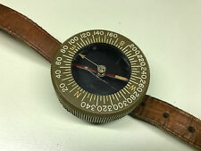 Old Vtg Military WWII US Army Engineers Wrist Compass With Leather Band