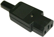 3 Pin IEC C13 Female In-Line Socket Terminal 250v 6 Amp 6A, Rewireable