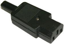 3 PIN IEC C13 femmina in linea PRESA TERMINALE 250V 6 AMP 6A, ricablabile