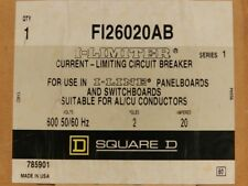 Square D FI26020AB 2P 20A 600V I-Line Style Plug-In Molded Case Circuit Breaker
