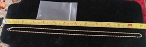 """18KT Yellow Gold 2mm Singapore Chain 24"""""""