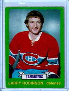 1973-74 O-Pee-Chee #237 Larry Robinson RC - Montreal Canadiens - BV : $80 (B)