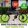 Microbike Bici Bicicletta Pieghevole 20 Pollici Urbana Città Lavoro 6 Velocità