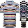 Mens Polo Striped T Shirt Short Sleeve Pique Shirt Premium  Summer Top M-XXL New