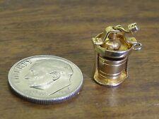 Vintage gold filled ANTIQUE MOVABLE ICE CREAM CHURNER MAKER BRACELET charm