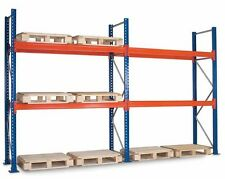 2 Bays Dexion Compatible Pallet Racking 2.7H, 2 Levels of 2743mm Beams Per Bay
