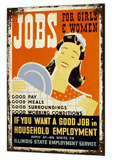 Tin Girls Decorative Plaques & Signs