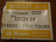 ZAFIRA AIGUILLE STEREO 5500 POUR EDEN 59 33/45 TOURS PLATINE VINYL