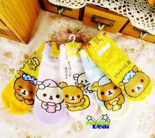 Cute Rilakkuma San-X Bear 5 pairs of Socks Girls Women Ladies Floor Socks