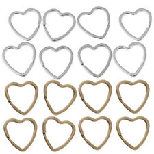 Iron Split Heart Key Rings 60pcs Jewelry Connectors Bronze/Silver Handmade