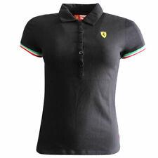 Puma SF Ferrari Womens Short Sleeves Polo Top Shirt Black 761427 01 A78D