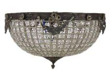 Illuminazione cristallo Plafoniera in ottone 50 cm Antico #MB8.0