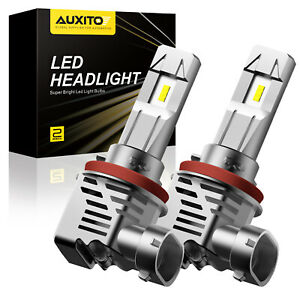 AUXITO H11 H8 H9 LED Headlight Kit Globe Bulbs High or Low Beam 120W Super White