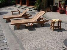 Quatro A-Grade Teak Wood  Sun Chaise Lounger Steamer Outdoor Garden Patio New