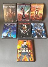 Video game themed Movie dvds.Resident Evil.Halo Legends.Hit man.Doom.Tomb Raider