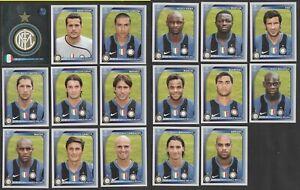 SET 17 FIGURINE CALCIATORI PANINI CHAMPIONS LEAGUE 2008-09 INTER CON IBRAHIMOVIC