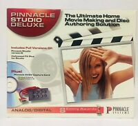 Vintage Pinnacle Studio Deluxe Analog Digital Home Movie Making Disc Authoring