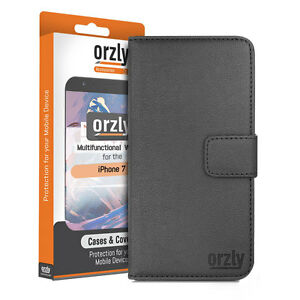 iPhone 7, iPhone 8 Multi Function Leather Wallet Stand Case Cover by Orzly®
