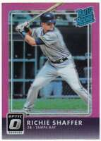2016 Donruss Optic Rated Rookies Pink Refractor #45 Richie Shaffer Rays
